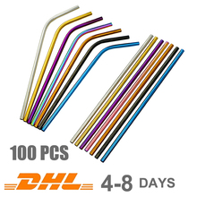 Drinking Straws Brush Drink-Bar-Accessories Eco-Friendly Custom Metal Reusable 304-Stainless-Steel
