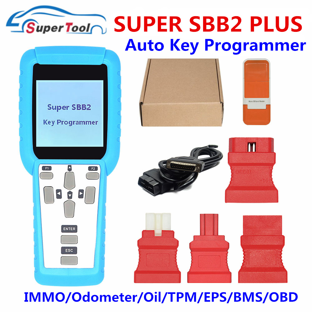 Odometer OBD Software+TPMS+EPS For IMMO Super SBB2 Car Key Programmer Tool Kit