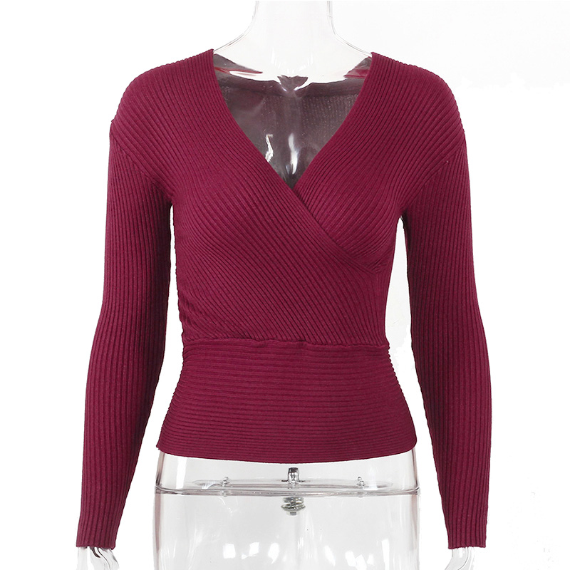 Sexy Winter Knitted Sweater V Neck Cashmere Sweater Female 19 Women Sweaters And Pullovers Autumn Long Sleeve Sweater Jumper 32