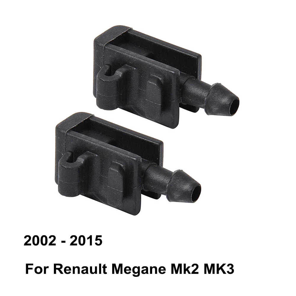 Front Windshield Washer Nozzle 8200082347 for Renault Megane Mk2 Mk3 ( 2002 - 2015 ) ( Pack of 2 )