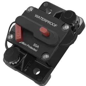 100A 100Amp Restablecimiento del Disyuntor Portafusibles Coche Barco Fuse Holder Waterproof 12-24V Nuevo Portafusibles 50Amp