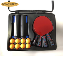 Table-Tennis-Racket-Set Paddles Rubber Pingpong Professional Double-Sided with