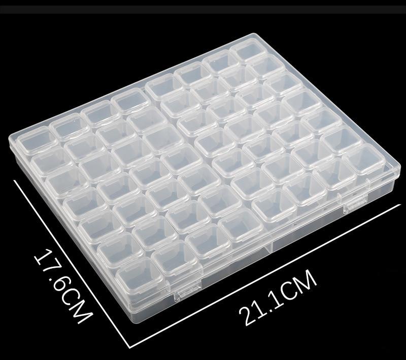 Joyas Caja Organizador de 84 Rejillas Cajas de Almacenamiento de Bordado de Diamantes Caja de Diamante de pitura de herramiente para DIY Manualidades