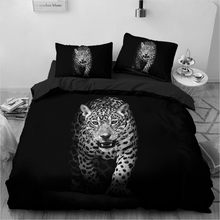 3D Bedding Sets Leopard Custom Duvet Quilt Cover Set Comforter Bed Linen Pillowcase King Queen Full Size 140*210 Home Texitle(Китай)