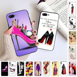 high heel shoes Soft Phone Cell Case For huawei honor 10 10i 10lite 8c 8A 8X 9 9A 9lite 20 20s 20i 20lite mate20 Coque Shell