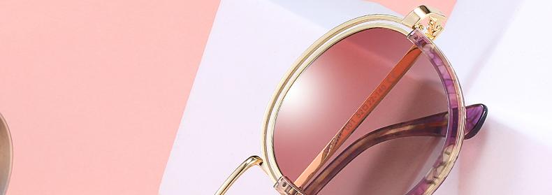 Sunglasses Women Vintage Round Sun Glasses Polarized Lens UV400 Anti Reflective Summer Polarized Women Snnglasses (2)