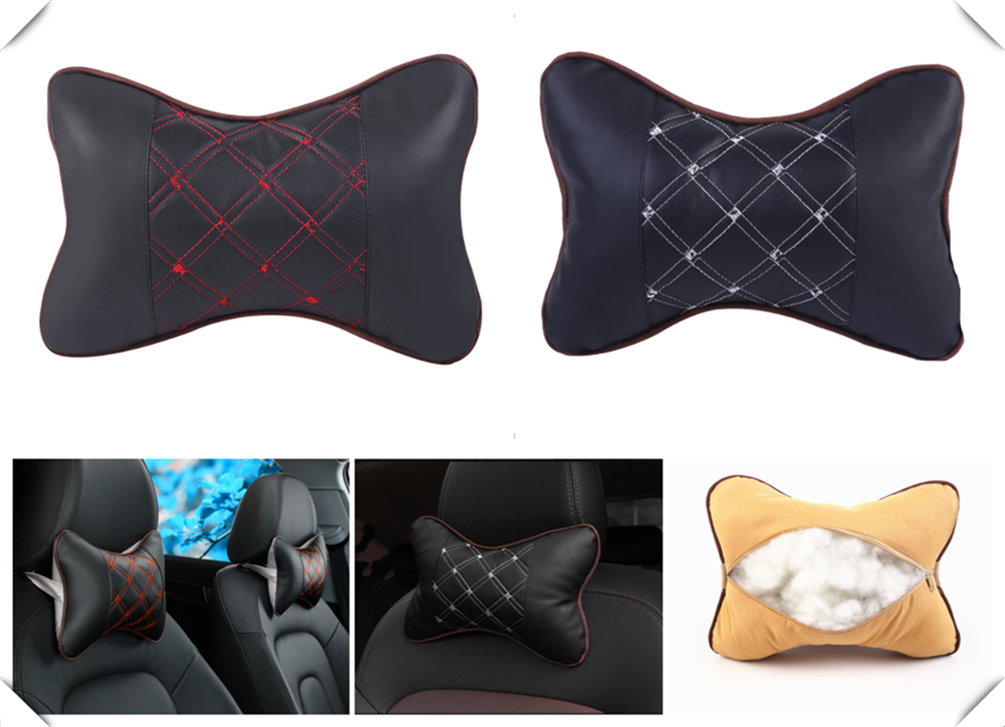 Universal fashion car accessories safety pillow auto headrest breathing seat head rest pad