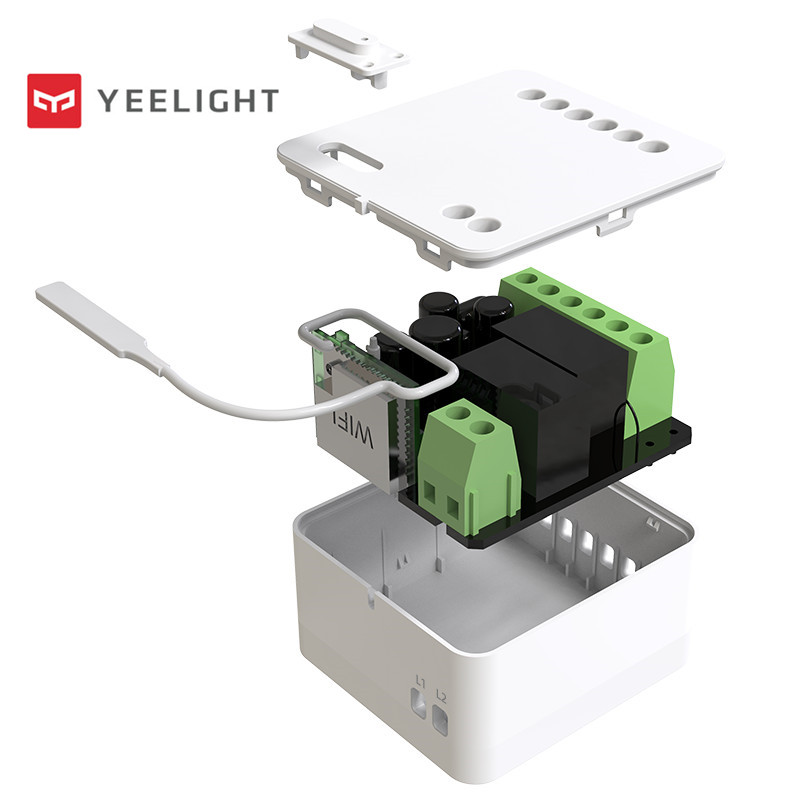 Original Yeelight Two-way control module Wireless Relay Controller 2 channels smart switch Work For Mijia APP to wifi&ble