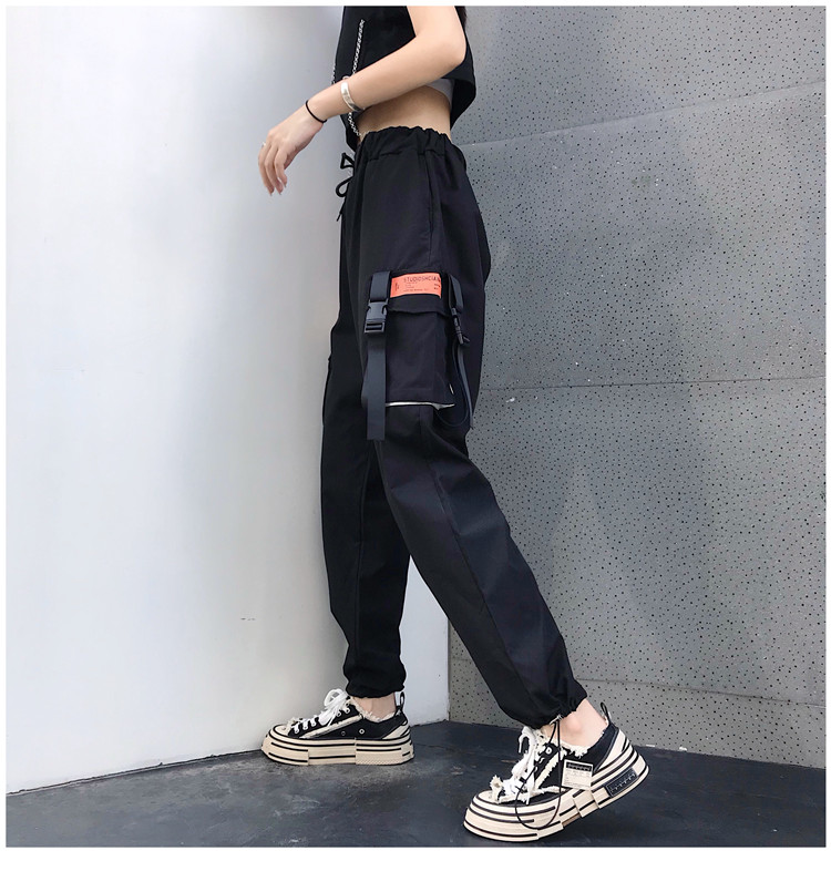 Hot Big Pockets Cargo pants women High Waist Loose Streetwear pants Baggy Tactical Trouser hip hop high quality joggers pants 27