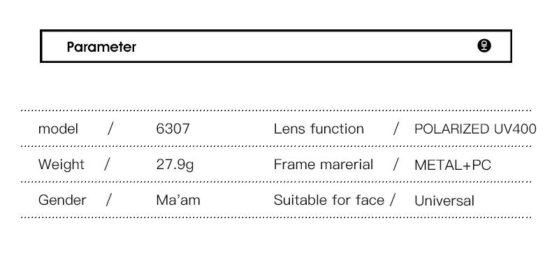 Women Sunglasses Frame Glasses Polariod Lens UV400 Polarized Sunglasses Women Fashion Round Frame Eyewear Glasses (15)