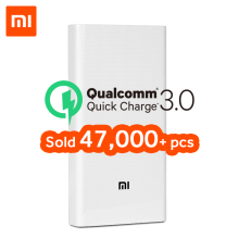 Xiaomi Power-Bank Charger-Support Mobile-Phones QC3.0 20000 External Portable 2C Original