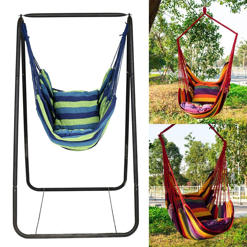 Hammock Portable Chair Hanging-Rope Garden Camping-Swing Outdoor-Sports Canvas 150kg title=