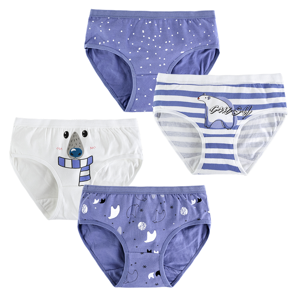 4pcs/lot kid Under Wear Cotton Panties For Girls Children Boxers Briefs Panty For Teenager Clothes 10-20 Years old