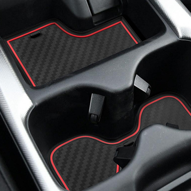Door Liners Inserts Cup Console Mats Fit for Honda Interior Decoration 2017 2018 Honda CRV Accessories Pack of 21 Red