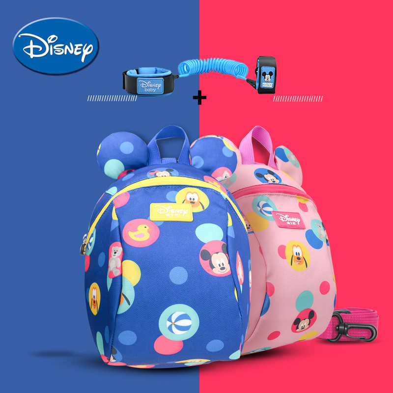 Disney Backpack Leashes Antilost Walking-Strap Children Link Cartoon Schoolbag title=