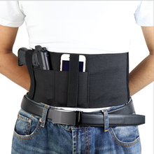 Tactical Adjustable Concealed Pistol Gun Holster with 2 Mag Pouch Elastic Girdle Belt General Waist Gun Holster