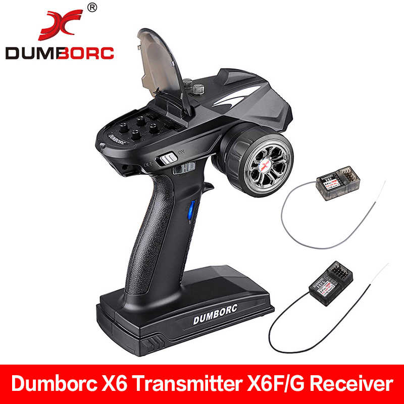 DumboRC X6 6CH Transmitter 2.4G With X6F/ X6F Gyro Receiver Remote Control For RC Car Boat Tank