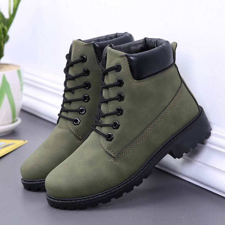 Winter boots women shoes 2019 fashion solid flats sneakers women snow boots women lace-up winter ankle boots casual shoes woman (1)