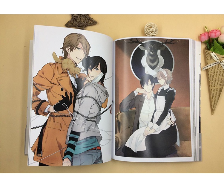 Japanese Takarai Rihito Colorful Art Painting Book Ten Count Collection Picture Album Anime Around