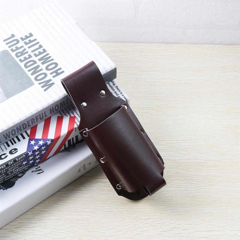 New 1pcs Portable PU Leather Metal Holster Portable Bottle Waist Beer Belt Bag Handy Wine Bottles Beverage Can Holder