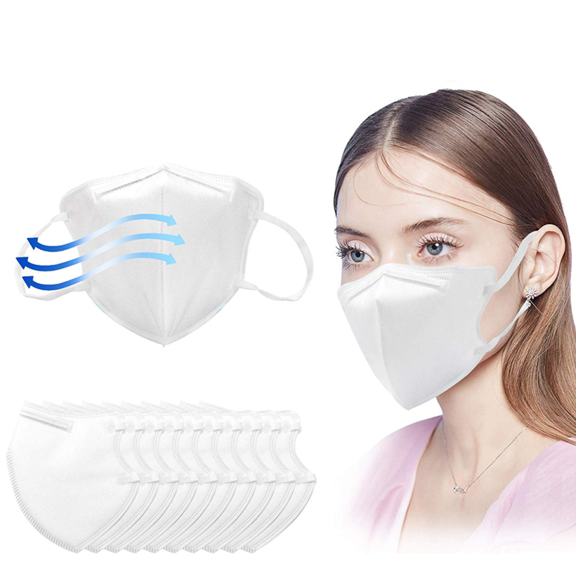20pcs KN95 Disposable Masks Respirator for Grem Protection 5 Layer Nonwoven Cloth 95% Filter Anti PM2.5 Face Mask Air Pollution