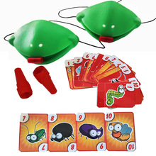Toy Sticking Board-Game Gift Tongue Funny Chameleon Family Frog-Mask Lizard Multiplayer