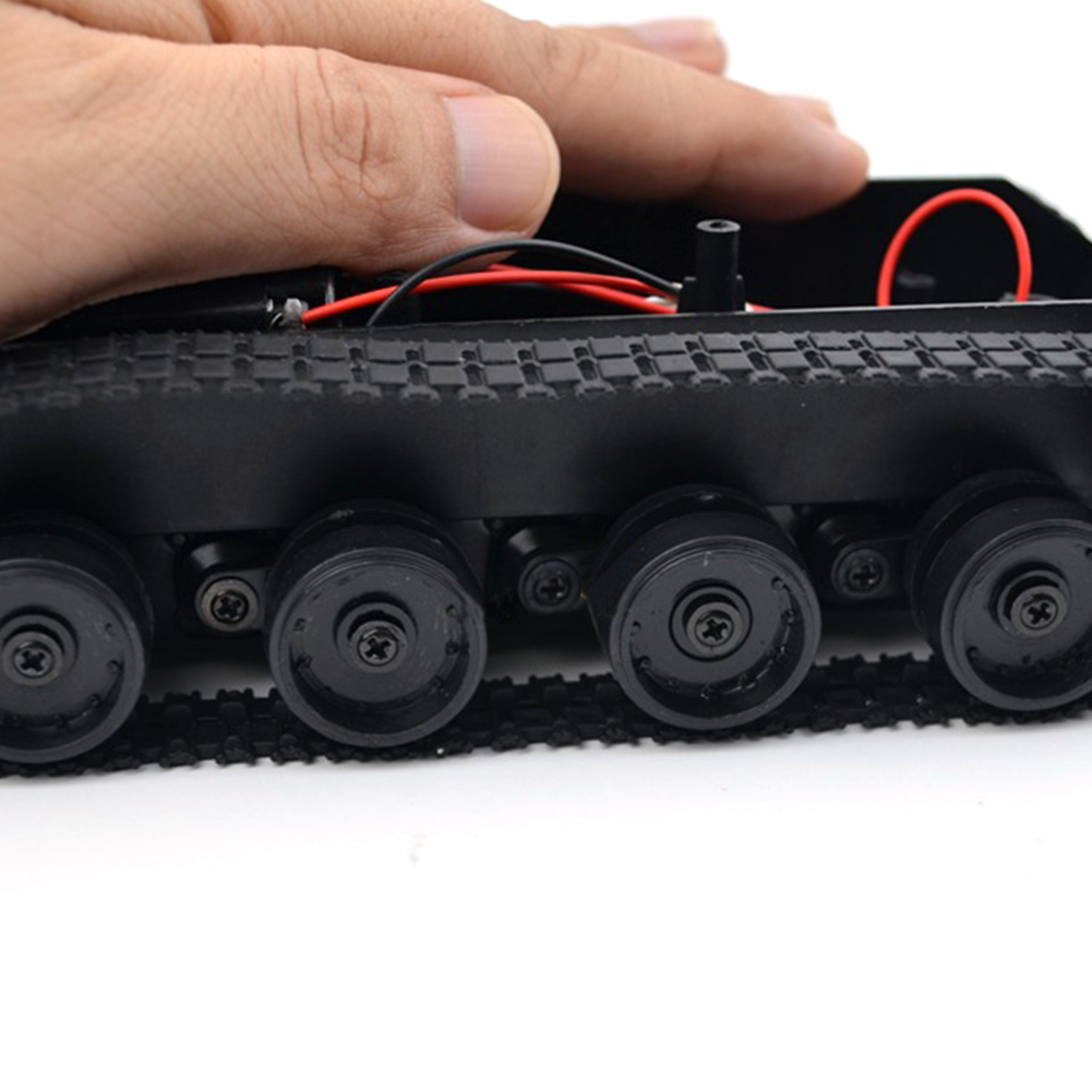 Smart Robot Tank Car Chassis Kit Rubber Track Crawler for Arduino 130 Motor High