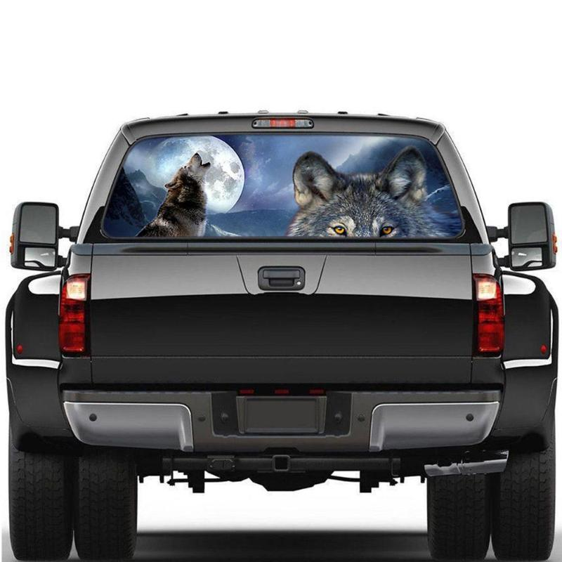 Day /& Night Yin and Yang Wolves Car Truck Vinyl Decal Sticker DECALHOLICS