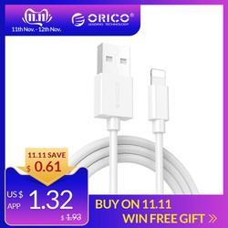 ORICO USB кабели 2A Быстрая зарядка для iPhone XS Max 8 Plus 7 6 6S 5 5S мобильного телефона iPad данных зарядное устройство Шнур