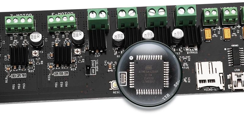 juler 3D Printer Accessories Motherboard Reprap Melzi2.0 Motherboard Upgrade i3 Circuit Board Supply,Green,One Size