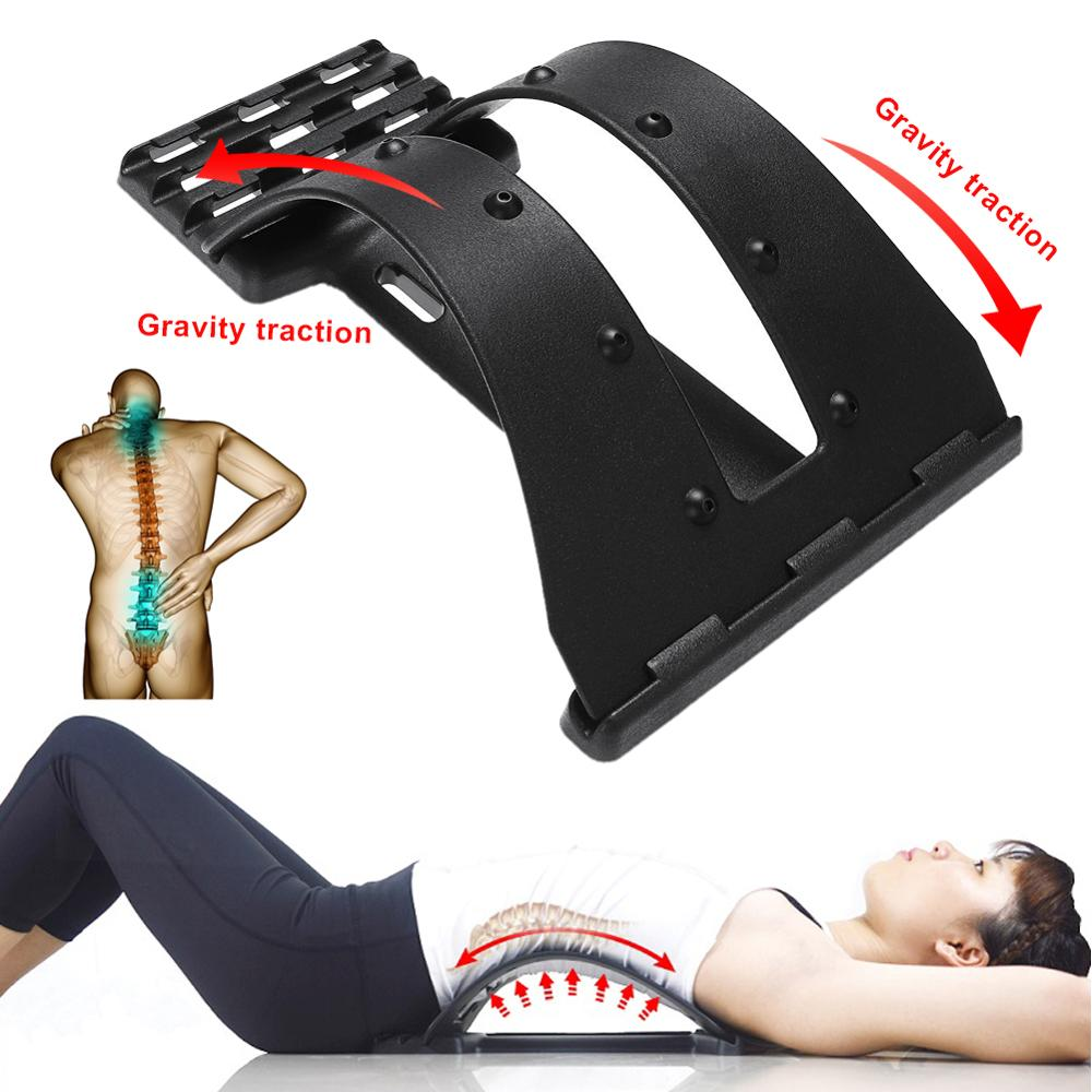 Lumbar Back Stretcher Lumbar Back Pain Relief Device Adjustable Settings for Lower and Upper Back Massager and Support,Spine Pain Relief Chiropractic Lumbar Support for Office Chair