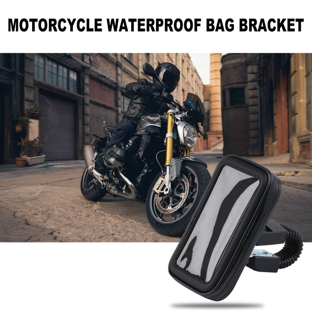 Motocykl wodoodporna torba uchwyt 4.7 cal czarny -