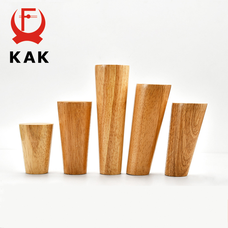 KAK 4pcs Solid Wood Furniture Leg Table Feets Wooden Cabinet Table Legs Fashion Furniture Hardware Replacement for Sofa Bed