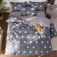 Cover-Set Pillowcases Comforter Bed-Sheet Stripe Star Adult Child 61014 4pcs Geometric