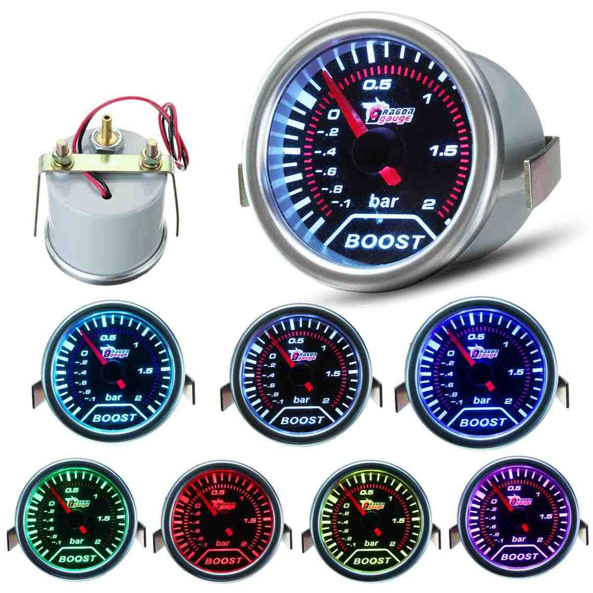 2inch 52mm Car Auto Universal LED for Pointer Bar Turbo Boost Gauge Vacuum Press Meter