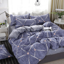 Plaid Dry Breathable bedding set bed sheet pillowcase & duvet cover single Twin full queen king size No quilt(China)