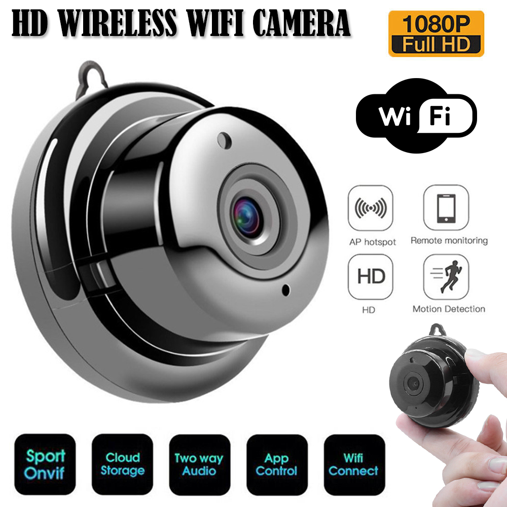 Camera - Wifi IP Camera HD 1080P Wireless Indoor Camera Night Vision Two Way Detection Baby Monitor V380 Audio Home Security with Stand