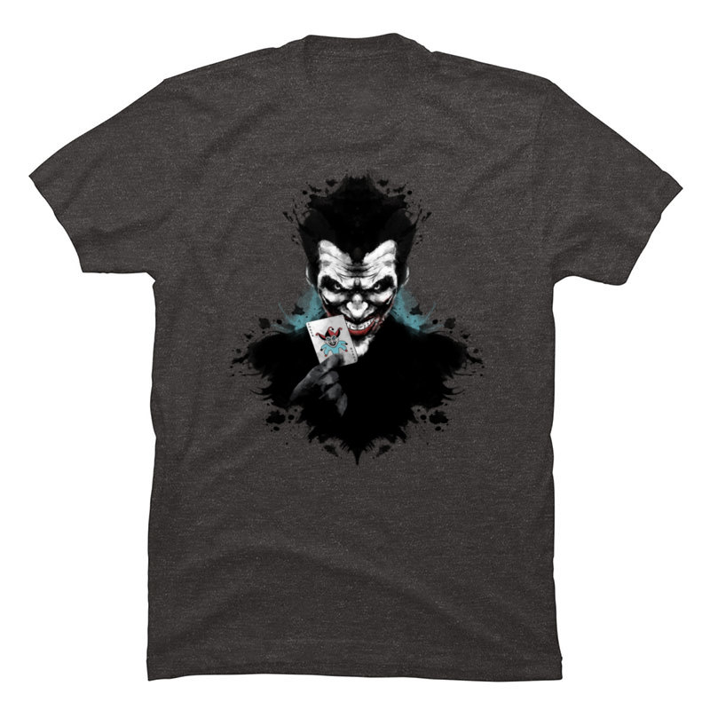 Joker_Ink_963 Crewneck T Shirts Summer/Autumn Tops Tees Short Sleeve Cute 100% Cotton Funny T-shirts Party Mens Joker_Ink_963 carbon