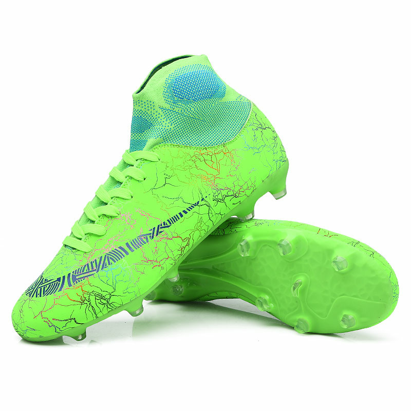 2019 ZHENZU Outdoor Men Boys Kids Football Boots Soccer Shoes High Ankle Cleats Training Sport Sneakers Size 35-45 Dropshipping1