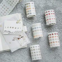Basic Dot Washi Tape Japanese Paper Diy Planner Masking Tape Adhesive Tapes Stickers Decorative Stationery Tapes 60mm x 3 m(China)