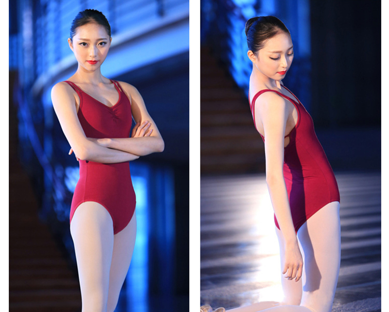 Ballet Dress Adult Gymnastics Leotard Spandex Bodysuit Dance Unitards Sexy Backless Ballet Leotards For Women Ladies Justaucorps Gymnastique (1)