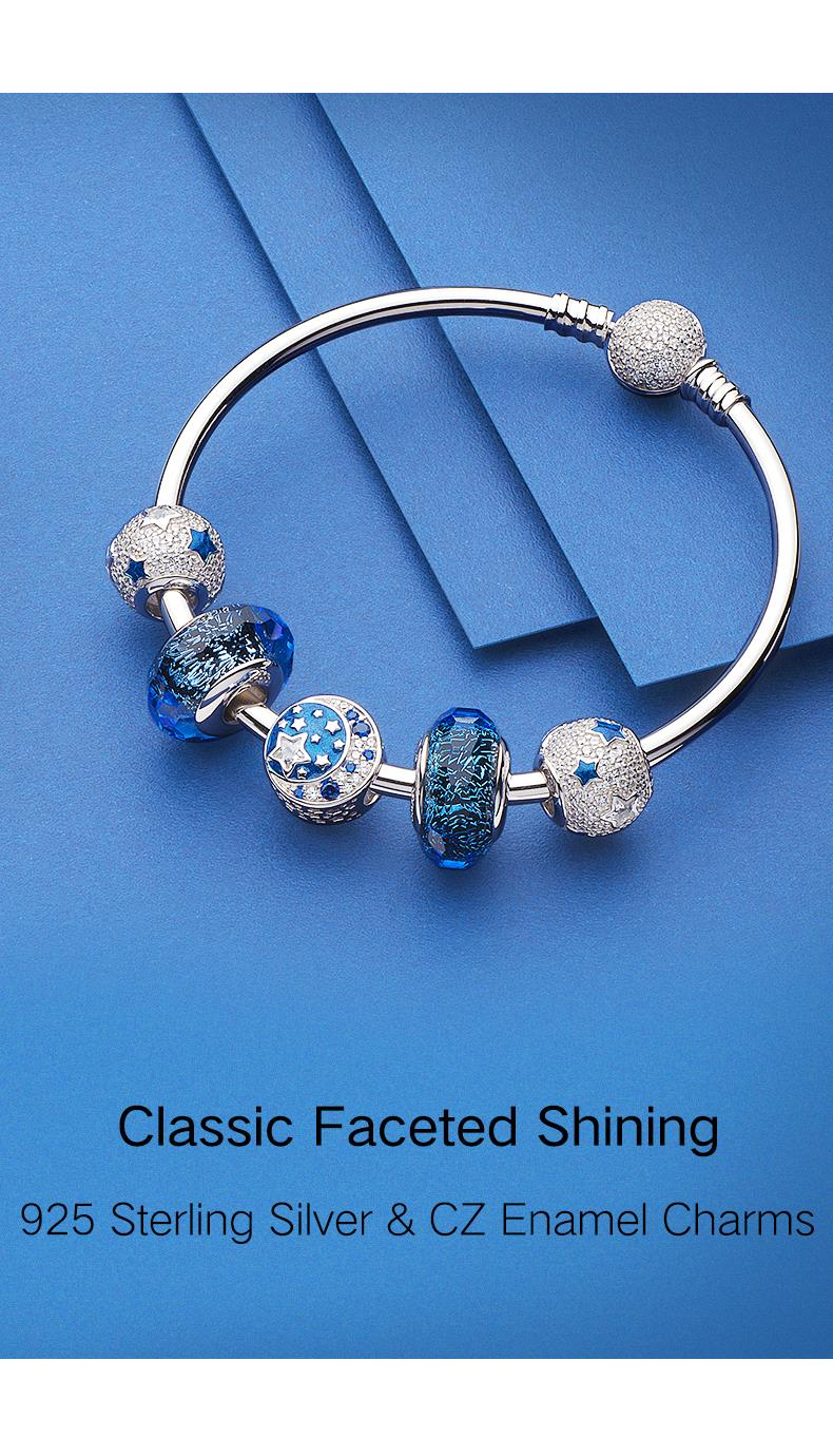 Solid 925 Sterling Silver Spacer with Green Clear and Iridescent Crystals Charm Bead