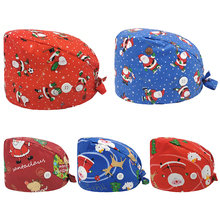 Scrubs-Caps Christmas Lab Work-Hats Pet-Grooming-Agency Gorros Beauty Enfermeria Santa-Claus