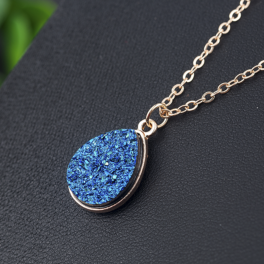 Collier Femme Charm Drop shape Stone Necklaces & Pendants for Women Crystal Bud Necklace Fashion Jewelry Kolye Collares 4