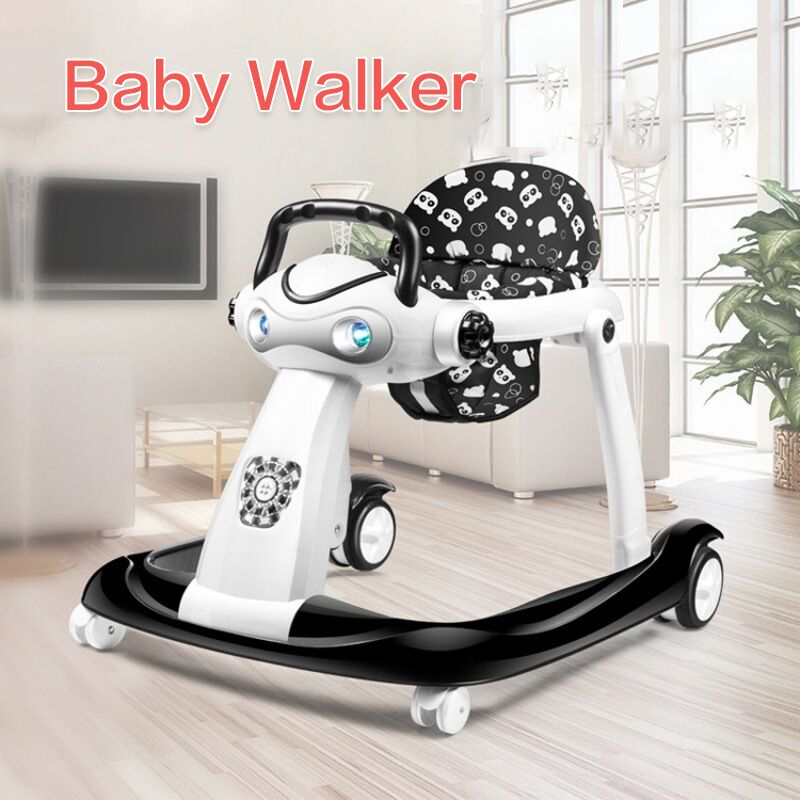 Baby Walker Adjustable Baby-Rollover-Prevention Multi-Function Infant Can-Push-Foldablfor title=