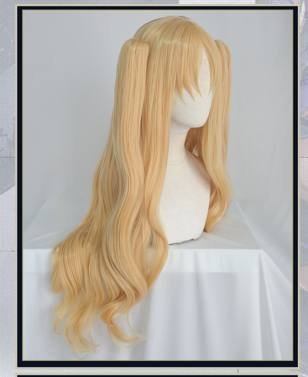 Pre-sale UWOWO Fate Grand Order Ereshkigal 80cm long Gold Double Tail Cosplay Hair
