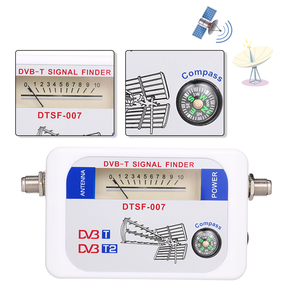 DC9-12V DVB-T SF95DT Mini Digital TV Antenna Signal Finder Meter w// Compass