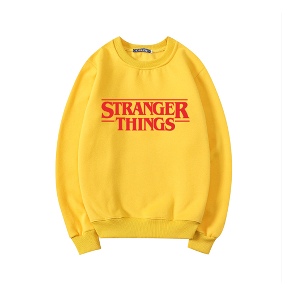 Casual Women Sweatshirts O-neck Stranger Things Hoodies Female Casual Long Sleeve Men Hoodies Autumn Winter Pullovers Sweatshirt