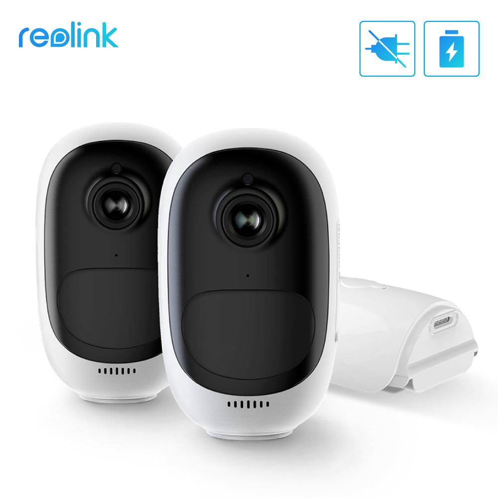 Reolink Argus Pro 2 Pack 100% Wire-Free Battery IP Camera 1080P Outdoor WiFi IP Camera Weatherproof Indoor Security Camera