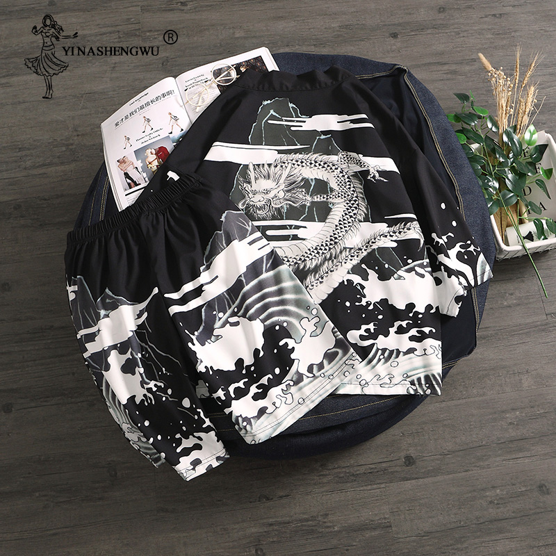 Kimono Cardigan Men Yukata Women Men Japanese Kimono Traditional Top and Pants Sets Summer Beach Thin Casual Shirt Japan Kimonos